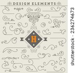 Vintage Ornaments Decorations Design Elements.  Vector stock | Shutterstock vector #236274673