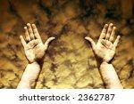 human hands in the sky toned... | Shutterstock . vector #2362787