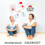 concept. young happy family...   Shutterstock . vector #236284207
