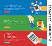 flat design concept for social... | Shutterstock .eps vector #236295313