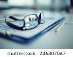 clipboard with document  pen... | Shutterstock . vector #236307067