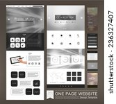 one page website template...