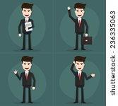 set of businessman characters... | Shutterstock .eps vector #236335063