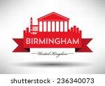 birmingham skyline with...