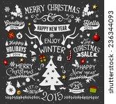 a set of chalkboard style...   Shutterstock .eps vector #236344093