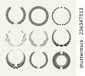 vector emblems. laurel wreath.... | Shutterstock .eps vector #236347513