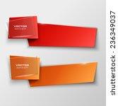 origami paper infographic...   Shutterstock .eps vector #236349037