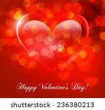 valentine's day vector... | Shutterstock .eps vector #236380213