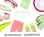 collection of summer clothes... | Shutterstock . vector #236399143