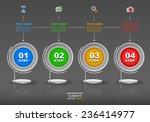 modern 3d business infographics ... | Shutterstock .eps vector #236414977