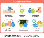 classroom rules for kids | Shutterstock .eps vector #236418847