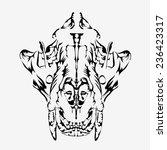 tiger skull vector. | Shutterstock .eps vector #236423317
