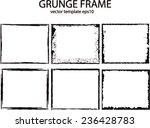 grunge frame set. vector... | Shutterstock .eps vector #236428783