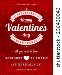 Постер, плакат: Happy Valentines Day Party