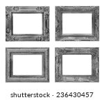 the antique  frame on the white ... | Shutterstock . vector #236430457