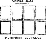 grunge frame set. vector... | Shutterstock .eps vector #236432023