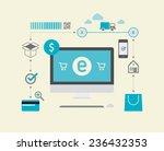 e commerce  dollar  | Shutterstock .eps vector #236432353