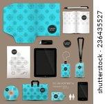 stationery set design geometric ... | Shutterstock .eps vector #236435527