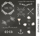 vintage hand drawn decorative... | Shutterstock .eps vector #236439403