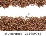 closeup of coffee beans on... | Shutterstock . vector #236469763
