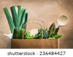 fresh vegetables in a brown... | Shutterstock . vector #236484427