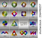 set of templates gradient logos.... | Shutterstock .eps vector #236498257