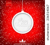 happy holidays vector... | Shutterstock .eps vector #236514067
