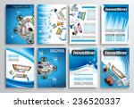 set of flyer design  web... | Shutterstock .eps vector #236520337