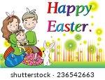 happy easter  | Shutterstock .eps vector #236542663