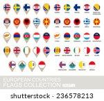 european countries flags...