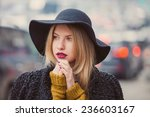 fashionable young woman posing... | Shutterstock . vector #236603167