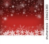 christmas red background. | Shutterstock .eps vector #236621383
