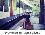 woman portrait  train station | Shutterstock . vector #236623267