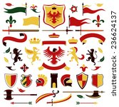 heraldic royal arms set colored ...   Shutterstock . vector #236624137