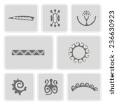 set of monochrome icons with... | Shutterstock .eps vector #236630923