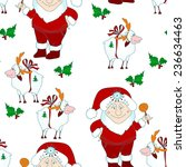 seamless christmas pattern with ... | Shutterstock .eps vector #236634463