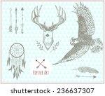 set of hipster vintage... | Shutterstock .eps vector #236637307