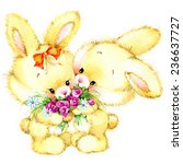 Funny Bunny. Kid Background Fo...