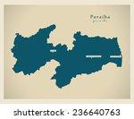 modern map   paraiba br   Shutterstock .eps vector #236640763