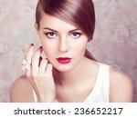 glamour portrait of beautiful... | Shutterstock . vector #236652217