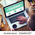 digital online update upgrade...   Shutterstock . vector #236681437
