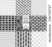 hand-drawn doodle seamless patterns collection