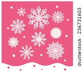 snowflake collection groups... | Shutterstock .eps vector #236731603