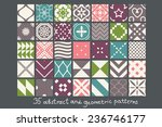 35 simple abstract patterns set