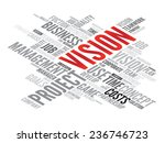 vision business concept in word ... | Shutterstock .eps vector #236746723