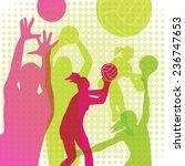 sport volleyball  vector... | Shutterstock .eps vector #236747653