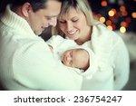 happy family close up portrait... | Shutterstock . vector #236754247