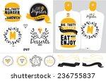 big set of restaurant and cafe...   Shutterstock .eps vector #236755837