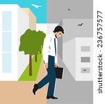vector illustration. worker ... | Shutterstock .eps vector #236757577