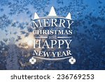 merry christmas and new year... | Shutterstock . vector #236769253